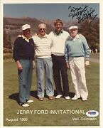 Bob Hope Signed 8x10 Photo Psa/dna Coa Autograph Picture W President Gerald Ford