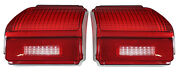 New Trim Parts Tail Light Lamp Lens Pair / For 1969 Chevelle Malibu / A4219