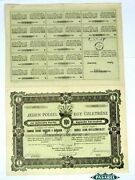 Share Certificate The Jewish Community In Kosice 1927