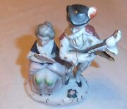 Vintage Old Woman Man Made In Occupied Japan Ceramic Type Figurine