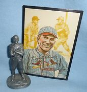 Rogers Hornsby Pewter Figurine Statue 1979 Metallic Creations Miniatures W/ Card