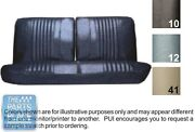 70 Skylark / Gs 455 Black Front Bench W/o Armrest Seat Covers And Coupe Rear - Pui