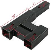4000 Lb Dual 2 Trailer Hitch Receiver Rise-drop Adapter Extender Extension Tow