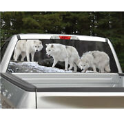 Wolves Wolf Rear Window Decal Graphic For Truck Suv Van