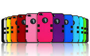 Lot 10x 25x 50x Shockproof Hybrid Armor Rubber Hard Matte Case For Iphone 4g 4s