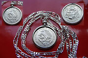 Proud Mexican Silver Eagle And Snake Bezel Pendant 26 925 Sterling Silver Chain