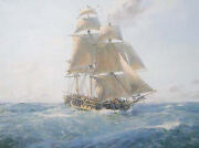 Geoff Hunt Limited Edition Remarque - Hms Surprise, On The Far Side Of The World