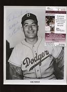 1957 Brooklyn Dodgers Team Issued Photo Carl Furillo Autographed Jsa