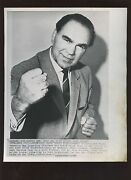 Original 7-13-1965 Max Schmeling German Soft Dring Distributor Boxing Wire Photo