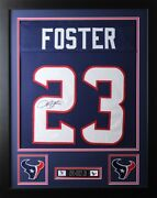 Arian Foster Framed And Autographed Navy Texans Jersey Auto Jsa Coa D2-s
