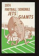 1974 The Record New York Giants And New York Jets Football Schedule Nrmt
