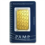 1 Oz Pamp Suisse Gold Bar .9999 Fine Gold With Sealed Assay Certificate