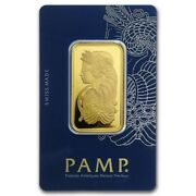 1 Oz Pamp Suisse Gold Bar .9999 Fine Gold With Assay Fortuna Design - In Stock