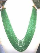 500 Ct Designer 13 Strand 100 Natural Emerald Stone Beads 2mm 4mm Necklace