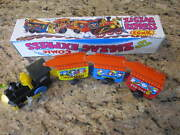 Vintage Toy Tin Train Wind Up Zigzag Express Comic No 970