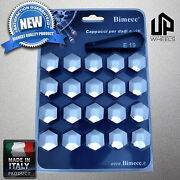 20 New 19mm Hex Chrome Cap Covers Fastener Lug Bolts Nut Jeep Rim Wheels Italy