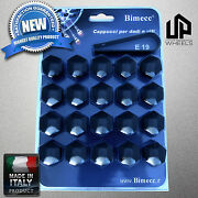 20 New 19mm Hex Black Cap Covers Lug Bolts Nut Gmc Fasteners Wheels Rims Italy