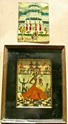 Rare Pair Voodoo And Oloffson House Paintings 8.25x 5.75 - Signed And Dated And03972