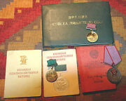 Very Rare Russian Committee Order Ussr Soviet Medal + 2 Award + Document Russia