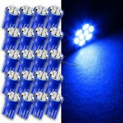 20pc Blue Led Replacement T10 Wedge Light Bulb 194 2450 2652 2921 2825 For Acura