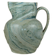 English Pottery Agateware Pitcher Mid 19th Century Probably Staffordshire