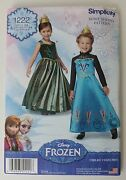 Simplicity Sewing Pattern 1222 Disney Frozen Elsa And Anna Size 3 4 5 6 7 8