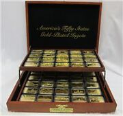Americaand039s 50 States 18kt. Gold Plated Ingots