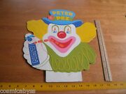 1950s-60and039s Peter Pez 16 Heavy Cardboard Store Display Topper Pez Airline Pilot