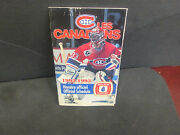Nhl- Montreal Canadiens Logo 1992-1993 Official Schedule In French- Wins Cupyear