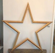 New Large Wood Gold Star Shaped Frame From Disney Channel Tv Show