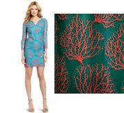 Nwt 358 Lilly Pulitzer Wendy Snorkel Blue Coral Mesh Lace Dress 6