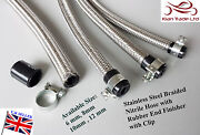 Auto Stainless Steel Braided Nitrile Rubber Hose + End Finisher + Steel Clip