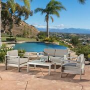 Sonora Outdoor Aluminum 4-piece Loveseat Set With Cushions