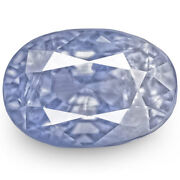 Igi Certified Burma Blue Sapphire 4.11 Cts Natural Untreated Violetish Blue Oval