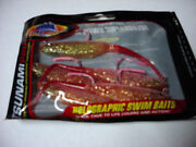 Case Of 96 Tsunami Pro Holographic Swim Baits 5 Pink/sparkle/red Tailtm5-20