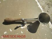 Antique Gilchristand039s No. 33 12 Ice Cream Dipper Cone Shaped Scoop Wood Handle