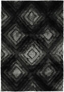 5x8and039 Chandra Rug Flemish Hand-woven Contemporary Shag Polyester Fle51101-576