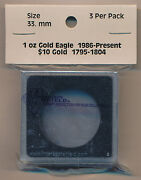 Intercept Shield Square 2x2 Coin Capsule Holds 33mm -3 Pack Is2214