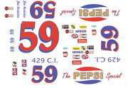 59 Jim Hurtbutise Pepsi Ford 1972 1/32nd Scale Slot Car Waterslide Decals