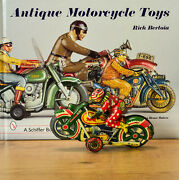 Antique Tin Toy Japanese Tydy Clown Honda Motorcycle With Driver Japan