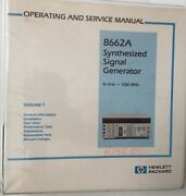 Hp 8662a Signal Generator Operating And Service Manual Volume 1 P/n 08662-90062