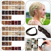 Stranded Hair Plait 1 Thick Chunky Braided Hairpiece Clipped Headband Hairband