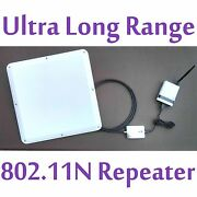 2 Mile Superlinxs 48dbm Long Range Wifi Repeater Antenna Router Booster Combo