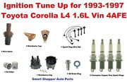 Ignition Tune Up 93-97 Corolla L4 1.6l 4afe Spark Plug Wire Set Cap Rotor Filter