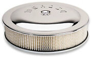 Moroso 65946 14and039and039x 5 Chrome Air Cleaner 7 5/16 Dia. Neck