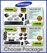 Samsung 8 Channel Dvr And Cctv Cameras Kit Outdoor Home Security Set 2tb Ir Dome