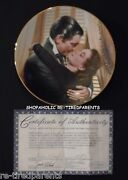 Vintage 1991 - Gone With The Wind Marry Me Scarlett Collectors Plate W/ Coa