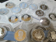 Uk Silver Proof Princess Diana Coins Various Andpound5 /crowns/rupees/ Dollars