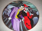 Warner Bros Joker And Harley Quinn Collector's Plate From Batman Animated Statue