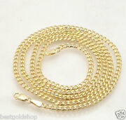 3mm Solid Tight Miami Cuban Link Chain Necklace Real 10k Yellow Gold 16 40